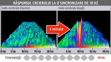 Răspunsul creierului la o sincronizare de 10 Hz